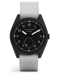 AllSaints Untitled Iv Leather Watch
