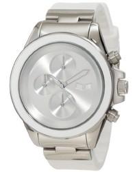 Vestal Unisex Zr2cs03 Zr 2 Rubber Silver White Minimalist Chronograph Watch