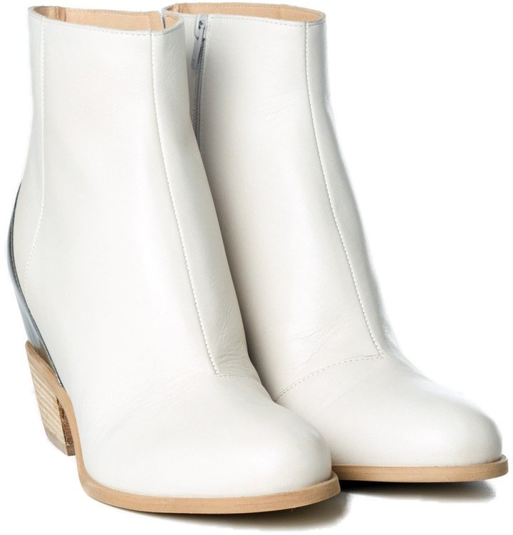 a73a5a24c42a Maison Martin Margiela Mm6 Leather Hidden Wedge Ankle Boots .