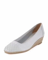 Magaly woven slip on espadrille pump white medium 3722225