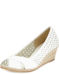 Mersey laser cut wedge pump white medium 635965