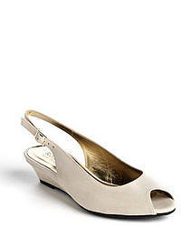 Ron White Elaine Suede Slingback Wedge Pumps