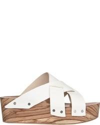 Proenza Schouler Crisscross Strap Platform Sandals White