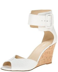 Nine West Crudenza Leather Wedge Sandal  Choose Colorsz