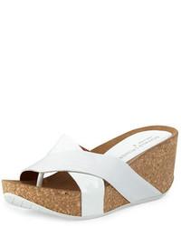Gallo crisscross wedge sandal white medium 783092