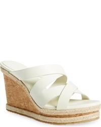Jimmy Choo Prisma Leather Wedge Sandal
