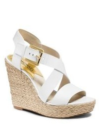 3fb5d11155f $150, Michael Kors Michl Kors Giovanna Leather Espadrille Wedge Sandal