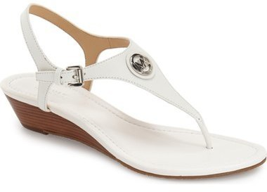 0d1026b1b203 Michl Michl Kors Ramona Wedge Sandal. White Leather Wedge Sandals by MICHAEL  ...