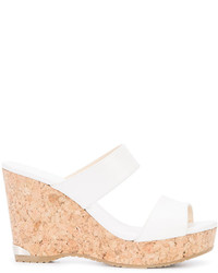 Jimmy Choo Parker 100 Cork Heel Wedge Sandals