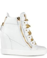 Giuseppe Zanotti Design Chain Detail Wedge Hi Top Sneakers