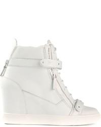 Giuseppe Zanotti Design Concealed Wedge Heel Hi Top Sneakers