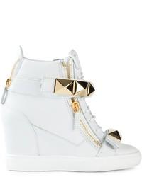 Giuseppe Zanotti Design Concealed Wedge Hi Top Sneakers