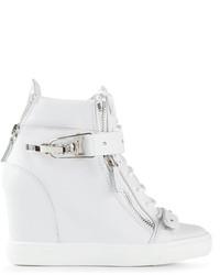 Giuseppe Zanotti Design Side Zip Fastening Hi Top Sneakers