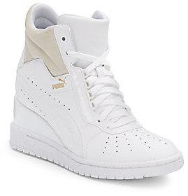 57483b9e271 ... Puma Advantage Leather Wedge Sneakers