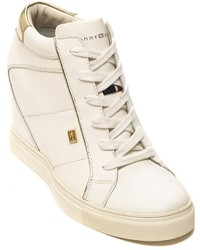 Tommy Hilfiger White Sneaker Wedge