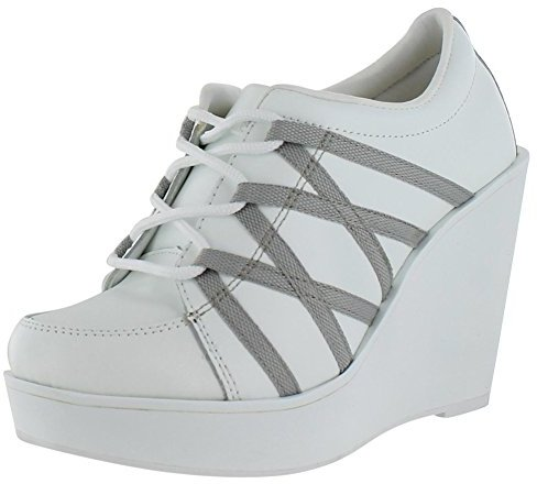 b6d0b9e9d412 ... Wedge Sneakers Volatile Excitation Lace Up Fashion Sneaker