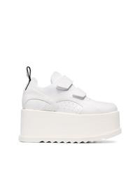 Stella McCartney White Eclypse Velcro Sneakers
