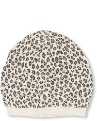 White Leopard Beanie