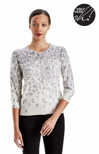 Lord & Taylor Leopard Print Cashmere Cardigan | Where to buy & how ...