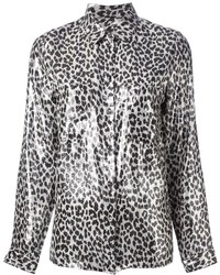 Diesel leopard print blouse medium 197311