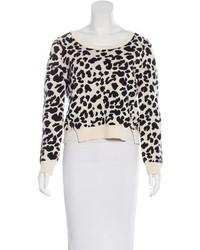 Sea Leopard Crop Sweater