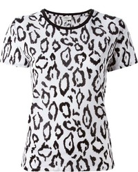 White Leopard Crew-neck T-shirt