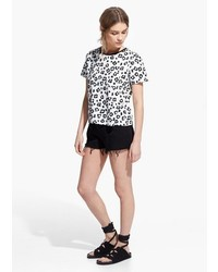 Mango outlet mango outlet leopard print t shirt medium 322285