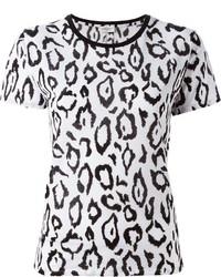 Saint laurent leopard print t shirt medium 322283