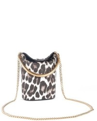 Small ring leopard print faux calf hair crossbody bag ivory medium 750843