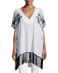 Chaser Snow Leopard Mesh Cover Up White