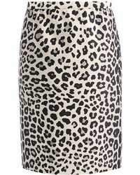 Marc Jacobs Satin Leopard Print Pencil Skirt