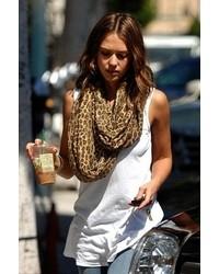 Infinity scarf in leopard medium 6518