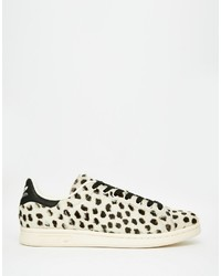 7f2bd0172ec77 adidas Originals Stan Smith Pony Effect Leopard Sneakers S75117 ...