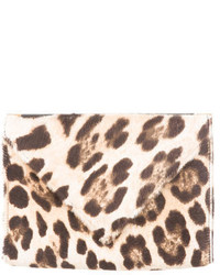 Leopard print pony hair clutch medium 448410