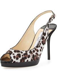 Nova calf hair slingback sandal animal medium 72414