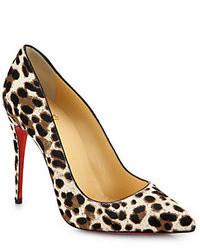 Pigalle leopard print calf hair pumps medium 77313