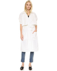 White Lightweight Trenchcoat