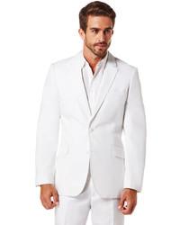Cubavera cotton linen herringbone blazer medium 559513