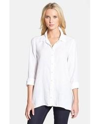 Eileen Fisher Organic Linen Classic Collar Boxy Shirt