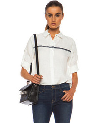 Rag and Bone Rag Bone Swan Linen Shirt In White