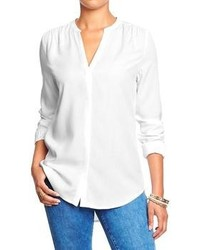 Old Navy Split Neck Covered Placket Blouses