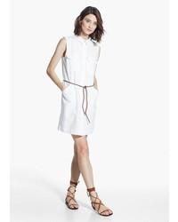Mango Outlet Shirt Linen Blend Dress