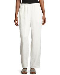 Go Silk Linen Wide Leg Pants Petite