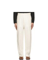 Maison Margiela Off White Linen Trousers