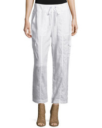 Eileen Fisher Organic Linen Ankle Pants Plus Size