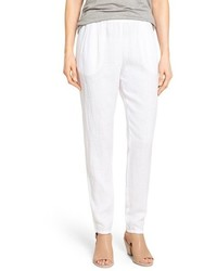 Eileen Fisher Petite Organic Linen Slouchy Pants