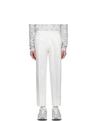 Ermenegildo Zegna White Linen Straight Trousers