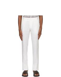 Ermenegildo Zegna White Pure Linen Trousers