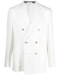 Etro Double Breasted Organic Linen Jacket