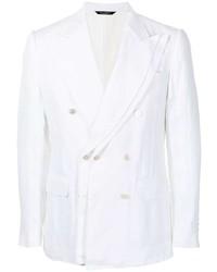 Dolce & Gabbana Linen Double Breasted Blazer